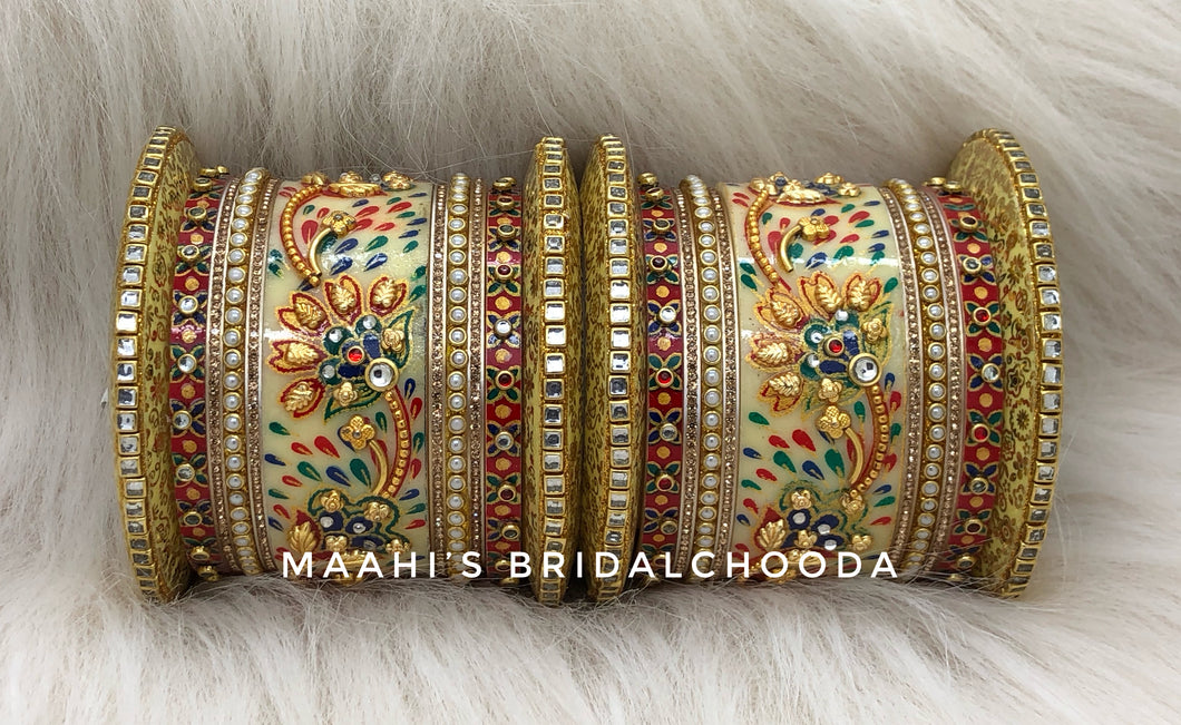 Handpainted Kundan Chooda - 019