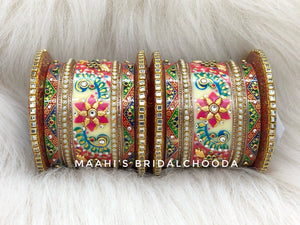 Handpainted Kundan Chooda - 021