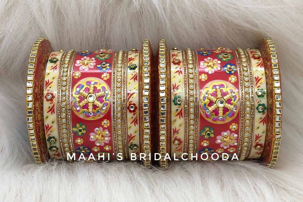 Handpainted Kundan Chooda - 022