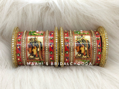 Handpainted Kundan Chooda - 023