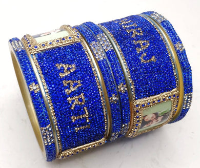 Maahi's Exclusive Personalized Bangles Set - 009 - Bridalchooda
