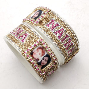 Maahi's Exclusive Personalized Bangles Set - 010 - Bridalchooda