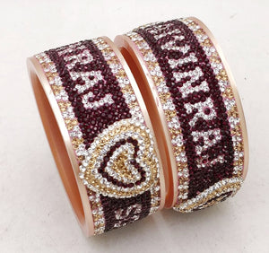 Maahi's Exclusive Personalized Bangles Set - 014 - Bridalchooda