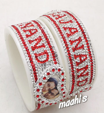 Maahi's Exclusive Personalized Bangles Set - 015 - Bridalchooda