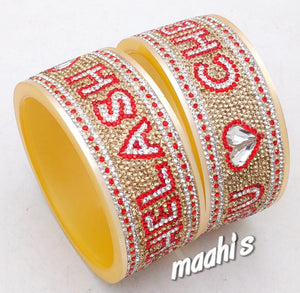 Maahi's Exclusive Personalized Bangles Set - 016 - Bridalchooda