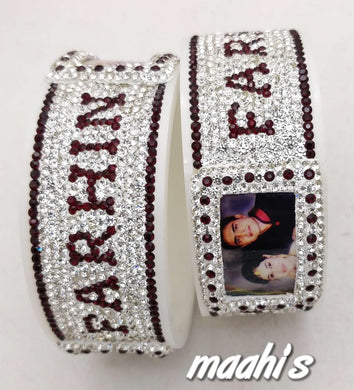 Maahi's Exclusive Personalized Bangles Set - 018 - Bridalchooda