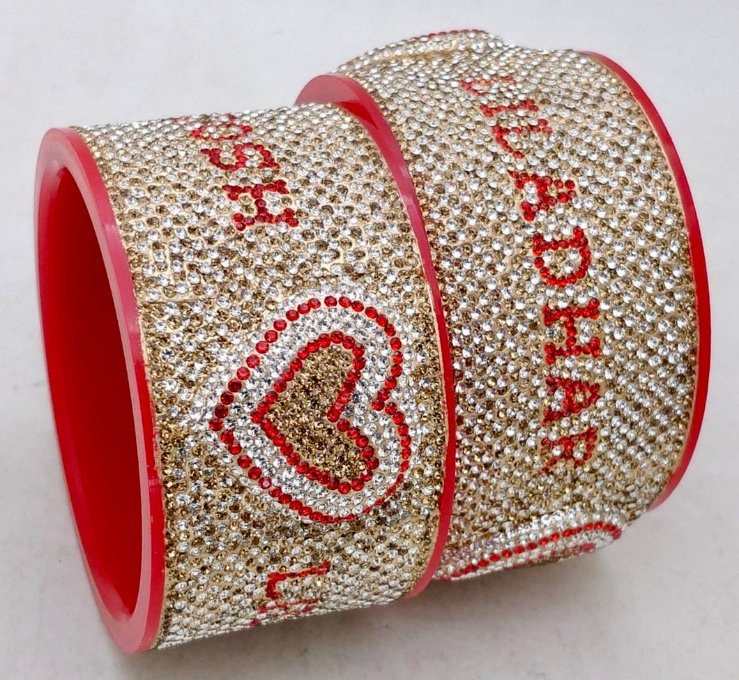 Maahi's Exclusive Personalized Bangles Set - 013 - Bridalchooda