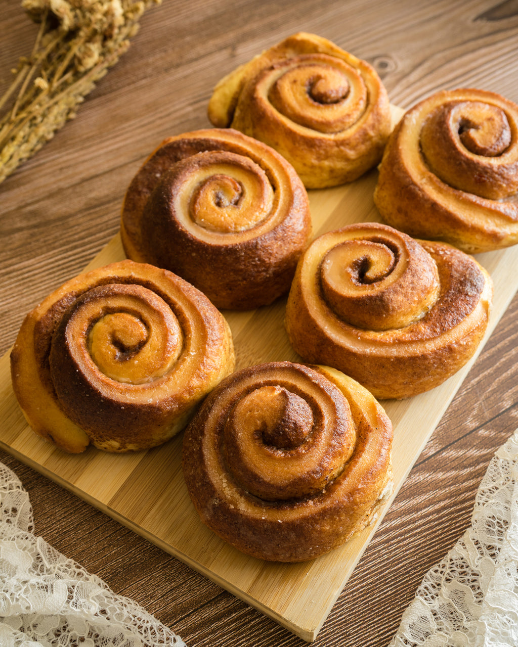 NEW Sugar Glazed Cinnamon Roll (Pack of 6 or 12)