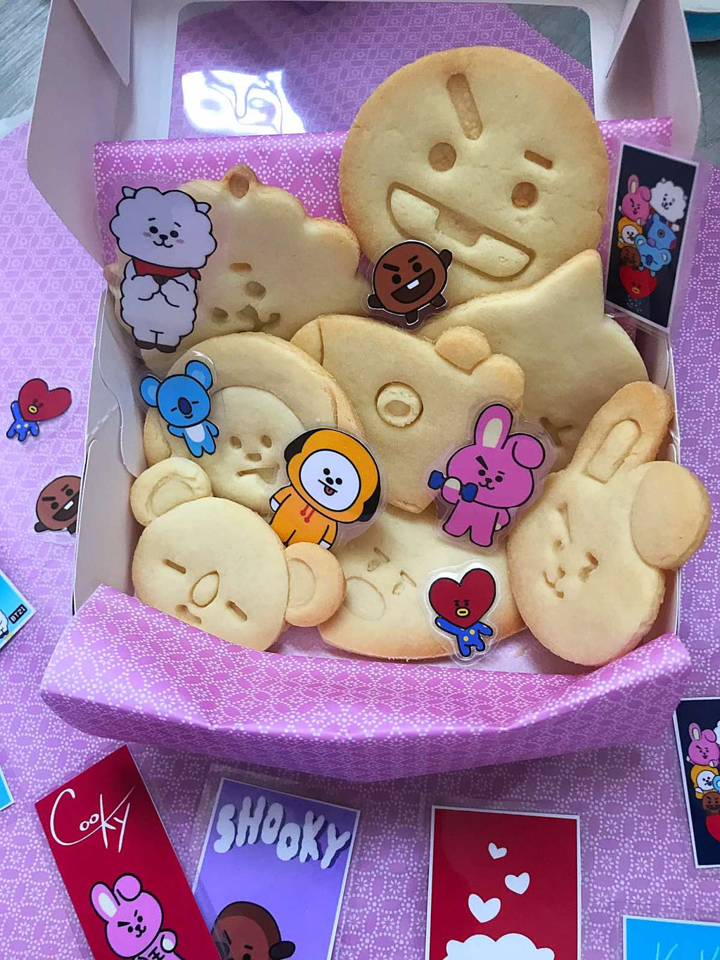 Fan-made  BT21 Plain Sugar Cookies (Box of 8)