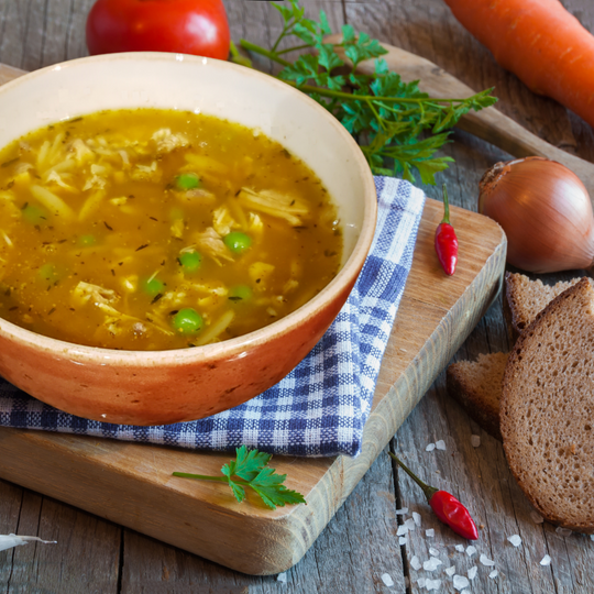 Turkey Soup with Orzo
