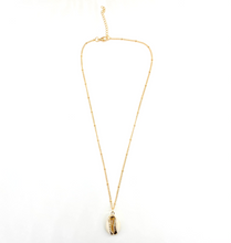 Load image into Gallery viewer, Ivory B: Dotted Gold Ivory Shell Necklace