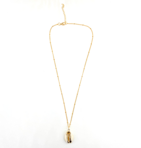 IvoryB: Dotted Golden Cowry Necklace