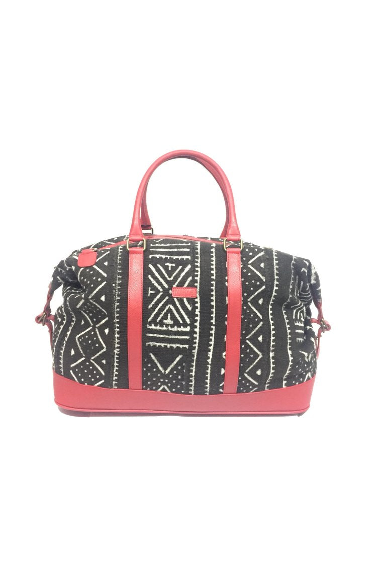 Ivory.B front: Bamako Bag Noir et Rouge red