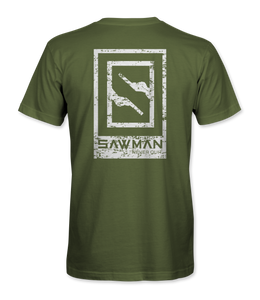 SAWMAN Branded Green Short sleeve