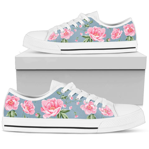 Dusty Blue Rose Shoes