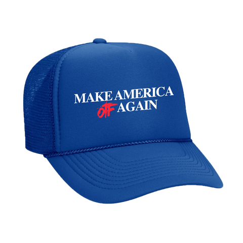 Make America OTF Again Trucker Hat Blue