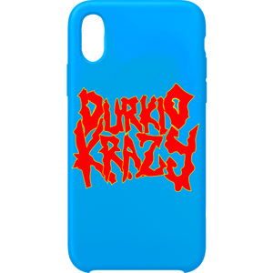 Durkio Krazy iPhone Case in Blue