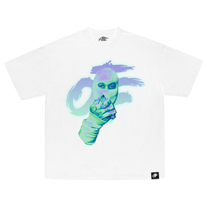 Masked Up Tee White