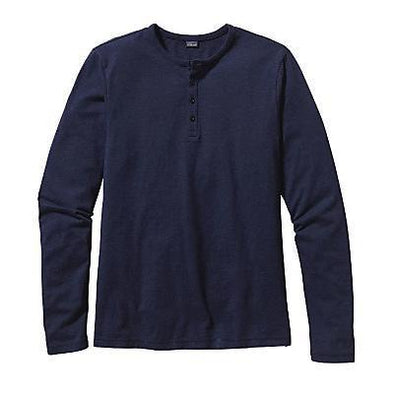 Men's Long-Sleeved Daily Henley-52260