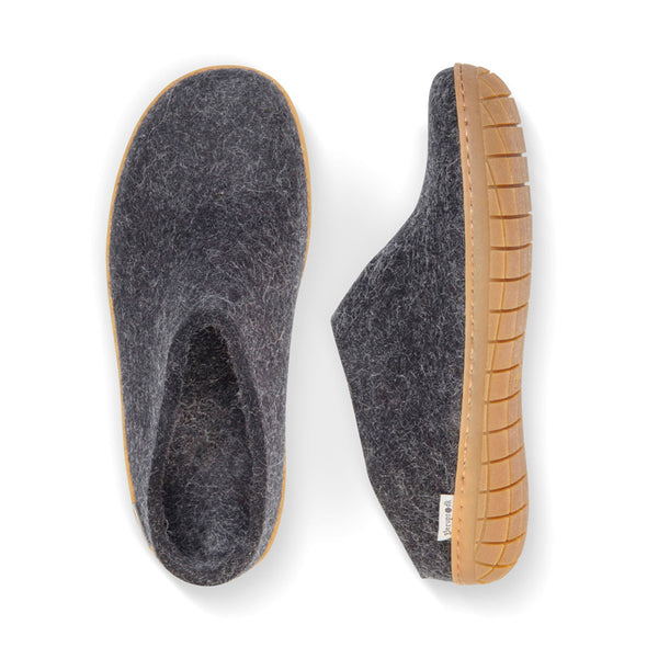 Glerup Slip On Charcoal Natural Rubber
