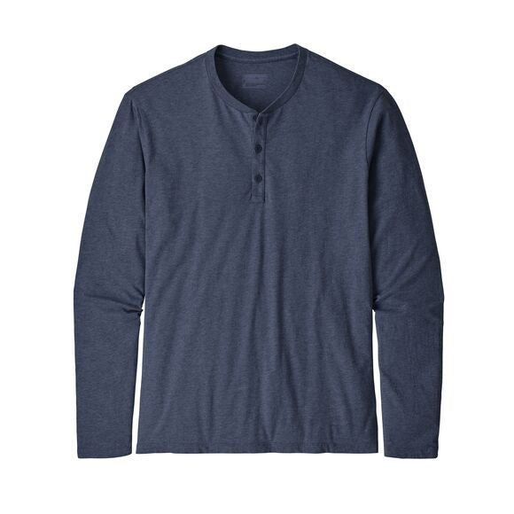 Men's Long-Sleeved Organic Cotton Lightweight Henley Pullover 53200