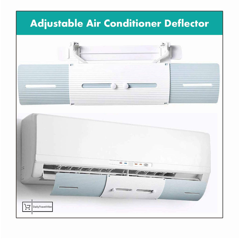 ADJUSTABLE AIR CONDITIONER DEFLECTOR