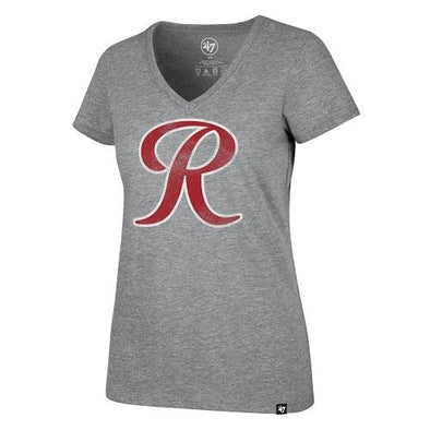Tacoma Rainiers Gray '47 Women's R V-Neck