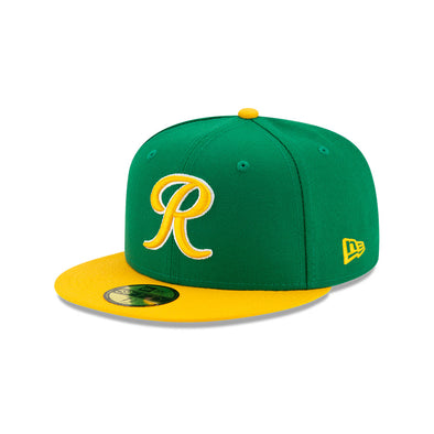 Tacoma Rainiers 59Fifty Green and Yellow R Cap