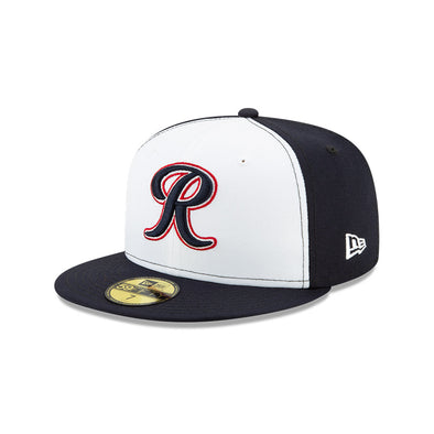 Tacoma Rainiers 59Fifty White Navy R Cap