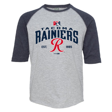 Tacoma Rainiers Navy Toddler Raglan Tee