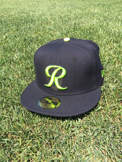 Tacoma Rainiers 59Fifty Navy Lime R Cap