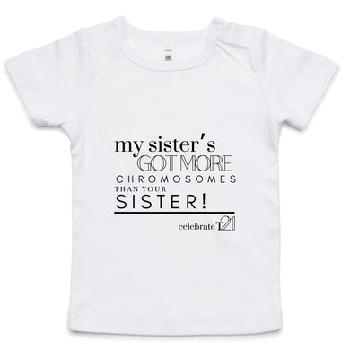 'My Sister' AS Colour - Infant Wee Tee