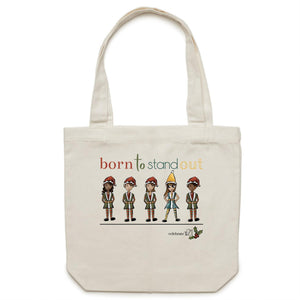 Christmas – 'Born To Stand Out' – Girl AS Colour - Carrie - Canvas Tote Bag