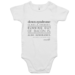'Bacon' in White Only - AS Colour Mini Me - Baby Onesie Romper