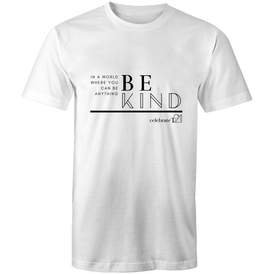 'Be Kind' in White or Black - AS Colour Staple - Mens T-Shirt
