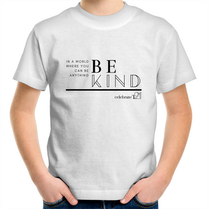 'Be Kind' in Black or White - AS Colour Kids Youth Crew T-Shirt
