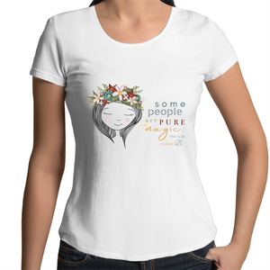 Some People Girl - AS Colour Mali - Womens Scoop Neck T-Shirt