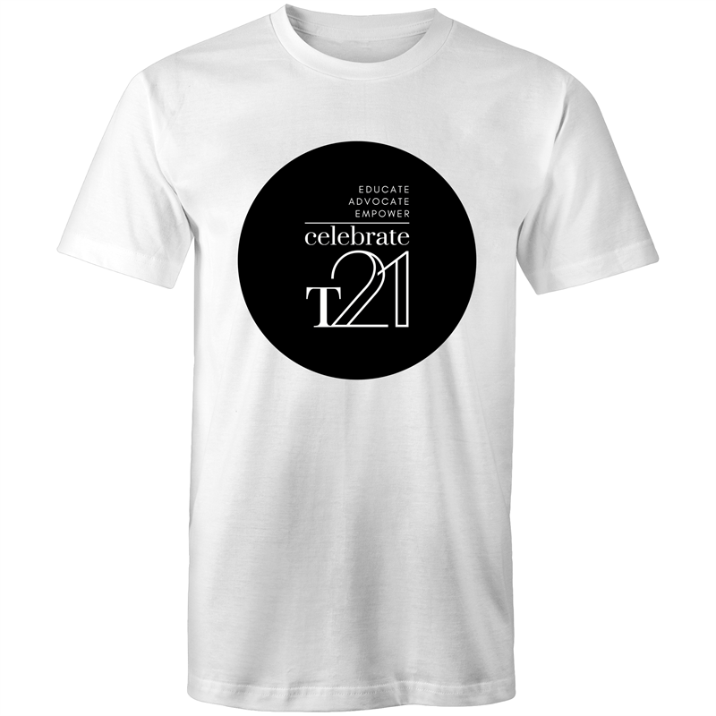 'Celebrate T21' White Only  - AS Colour Staple - Mens T-Shirt