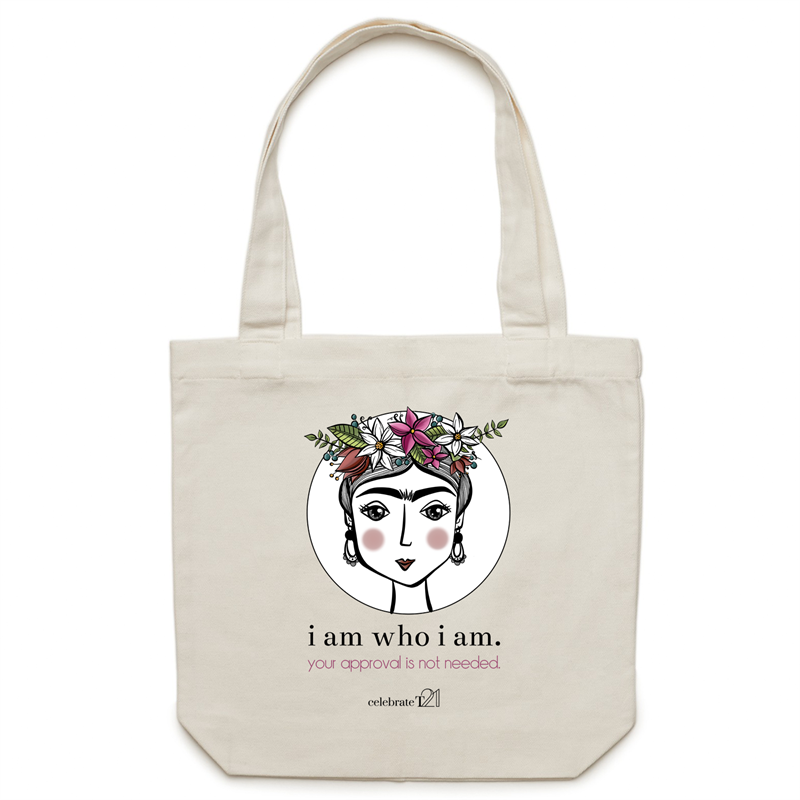 Frida I Am - AS Colour - Carrie - Canvas Tote Bag