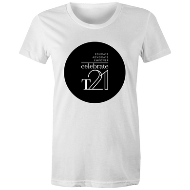 'Celebrate T21' White Only - Sportage Surf - Womens T-shirt