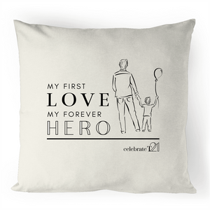Father and Son -100% Linen Cushion Cover