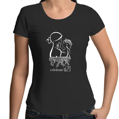 'Mother & Daughter' in Black or White - AS Colour Mali - Womens Scoop Neck T-Shirt