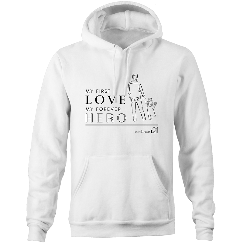 Father and Daughter - AS Colour Stencil - Pocket Hoodie Sweatshirt