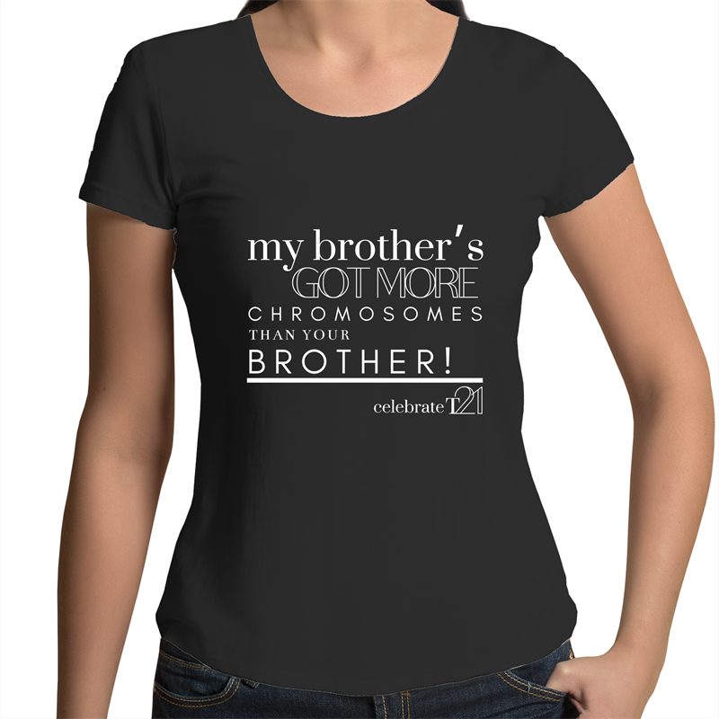 'My Brother' in Black or White - AS Colour Mali - Womens Scoop Neck T-Shirt