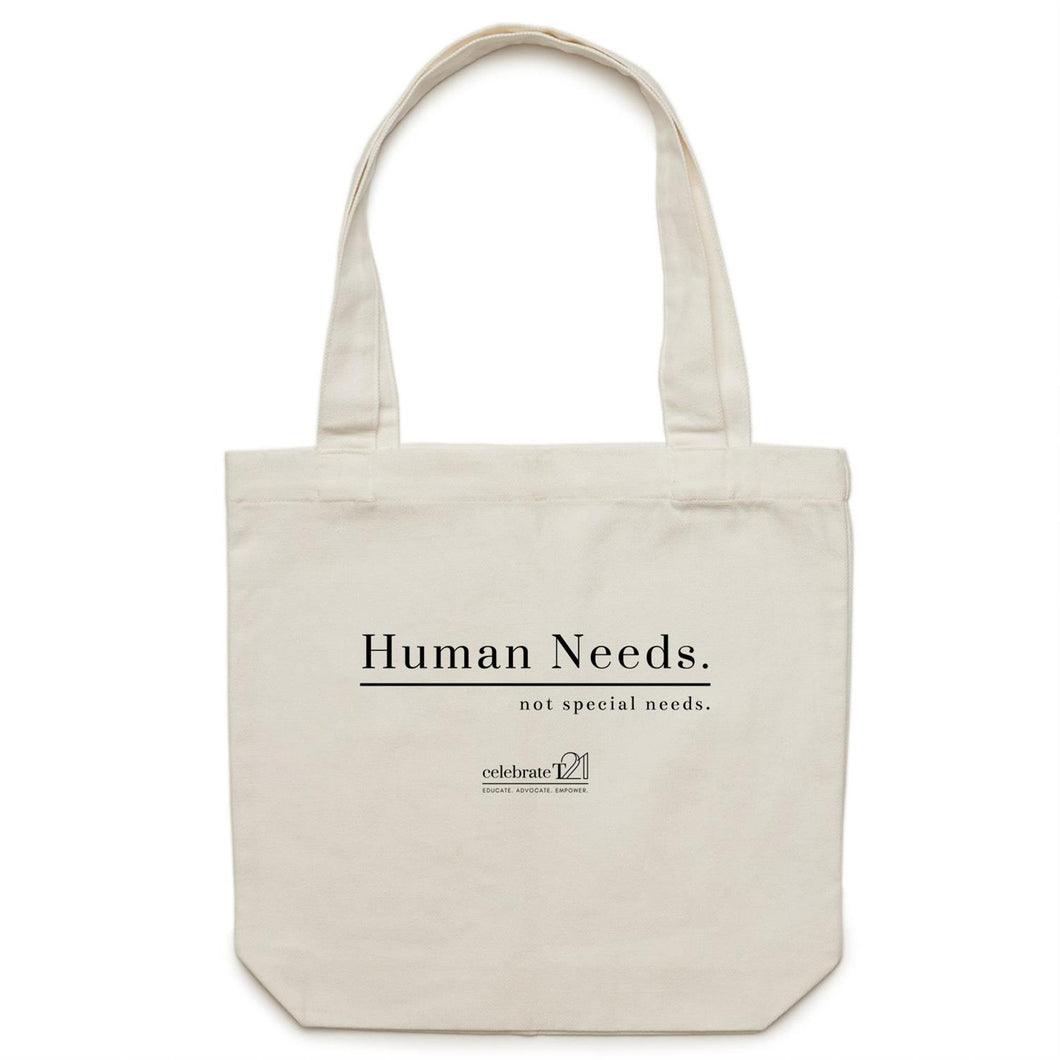 Human Needs - AS Colour - Carrie - Canvas Tote Bag