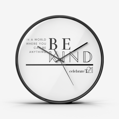 BE KIND Wall Clock Silent Non Ticking Quality Quartz