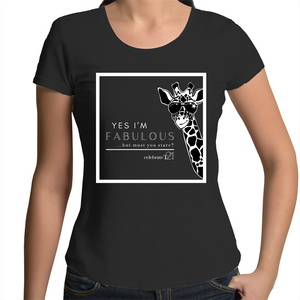 'Giraffe' in Black only - AS Colour Mali - Womens Scoop Neck T-Shirt