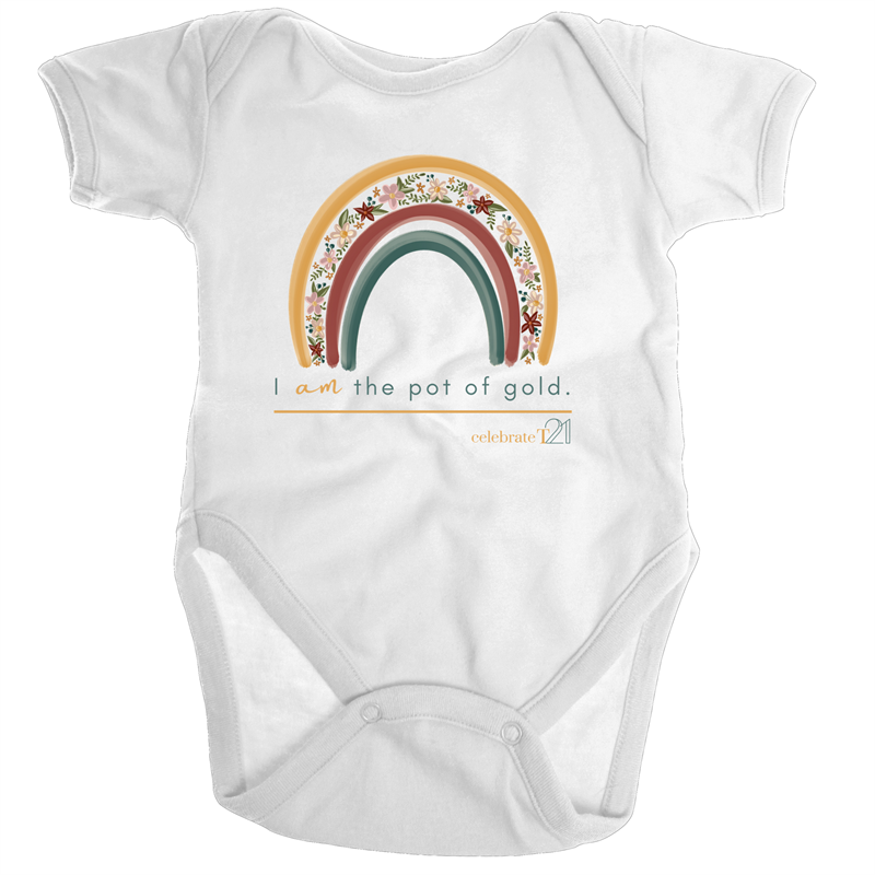 I Am The Pot Of Gold - Floral Organic Baby Onesie