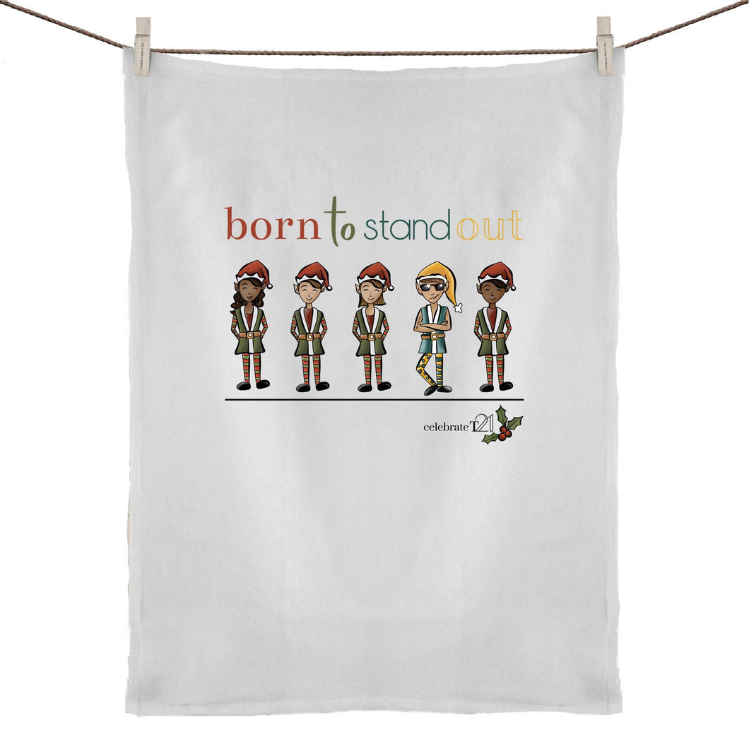 Christmas - 'Born To Stand Out' – Boy 50% Linen 50% Cotton Tea Towel