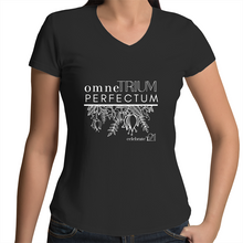 Load image into Gallery viewer, 'OTP Flowers' in Black or White - AS Colour Bevel - Womens V-Neck T-Shirt